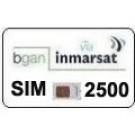 Sim Card Inmarsat BGAN prepagata 2500 unità, validità 365 gg