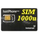 SIM card IsatPhone   con attivazione e 1000 unità