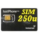 SIM card IsatPhone  con attivazione e 250 unità