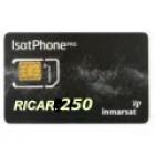 Ricarica elettronica IsatPhone  con 250 unità