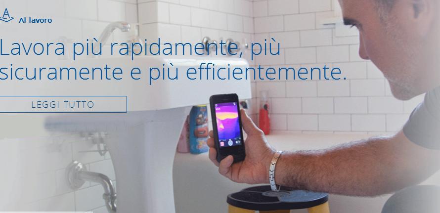 FlirOne immagine lavora bagno