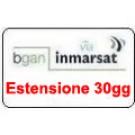 BGAN Sim Card Inmarsat prepagata Estensione validità 30 gg