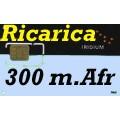 Iridium Ricarica 300  minuti--Africa,  validità 1 anno 7.200 unità