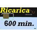 Iridium  Ricarica 600 minuti validità 1 anno 36.000 unità
