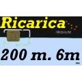 Iridium Ricarica 200 minuti validità 6 mesi 12.000 unità